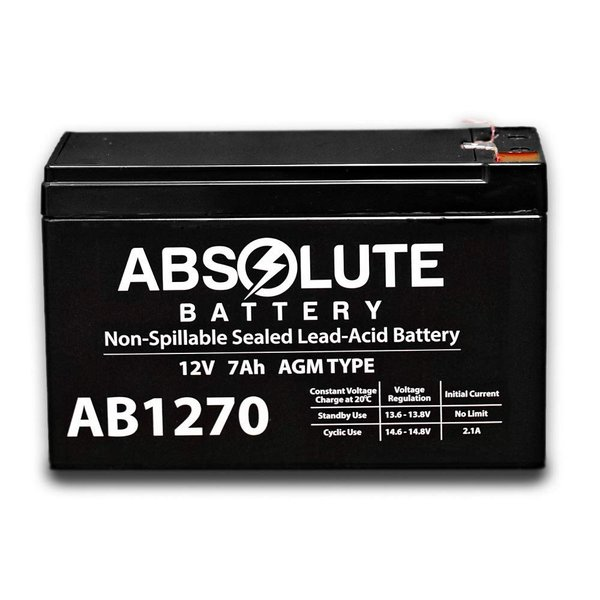 6 Pack New AB1270 12V 7AH SLA Battery Replacement for APC Smart-UPS SU1400RM2U