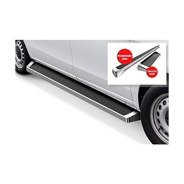 APS iBoard Running Boards 6 inches Silver Custom Fit 2016-2020 Mercedes-Benz Metris Cargo Van Nerf Bars Side Steps Side Bars