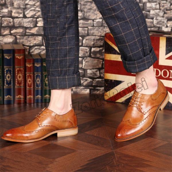 メンズビジネスシューズ紳士靴フォーマルシークレットrose5CMUPウォーキングウイングチップカジュアル冠婚葬祭