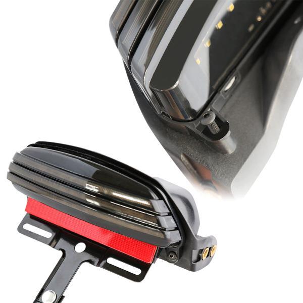 【送料無料】ハーレー トライバー フェンダー テールライト LED ターンシグナル ブラケット FXST FXSTB 適用 ボルトオン車検対応|zbyshop1|06