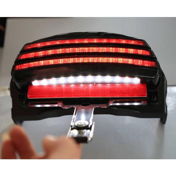 【送料無料】ハーレー トライバー フェンダー テールライト LED ターンシグナル ブラケット FXST FXSTB 適用 ボルトオン車検対応 zbyshop1 07