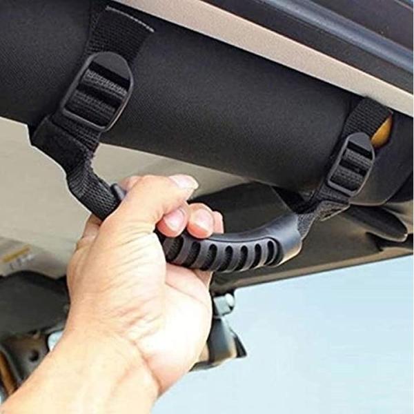 ジープ 車 アシストグリップ ホルダー 4個 セット ハンドル グラブ JEEP ラングラー jl(ブラックA)|zebrand-shop|07