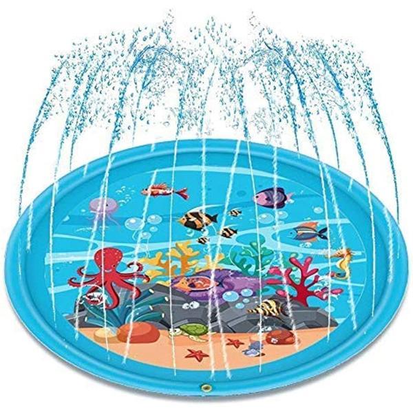 噴水マット プレイマット 噴水おもちゃ キッズ 水遊び 親子遊び プールマット アウトドア噴水池 庭の中に遊び 家族用 芝生遊び|zebrand-shop