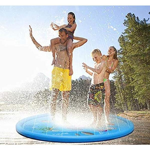 噴水マット プレイマット 噴水おもちゃ キッズ 水遊び 親子遊び プールマット アウトドア噴水池 庭の中に遊び 家族用 芝生遊び|zebrand-shop|03