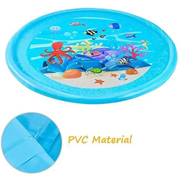 噴水マット プレイマット 噴水おもちゃ キッズ 水遊び 親子遊び プールマット アウトドア噴水池 庭の中に遊び 家族用 芝生遊び|zebrand-shop|07