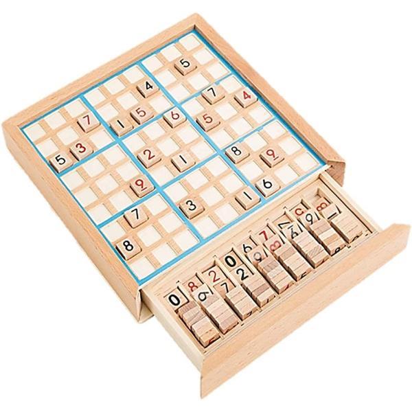 数独 すうどく 脳トレ 卓上 ボード ゲーム 9ブロックパズル 知育 玩具 木製 ナンプレ ナンバープレース 数字 活脳