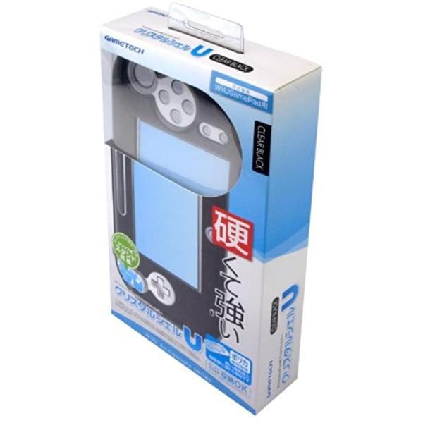 WiiU用ゲームパッド保護カバークリスタルシェルU クリアブラック(クリアブラック) zebrand-shop 03