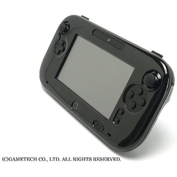 WiiU用ゲームパッド保護カバークリスタルシェルU クリアブラック(クリアブラック) zebrand-shop 05