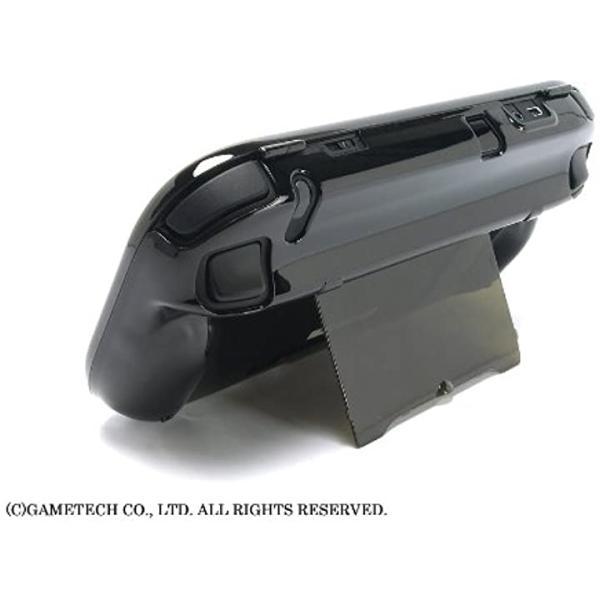 WiiU用ゲームパッド保護カバークリスタルシェルU クリアブラック(クリアブラック) zebrand-shop 06