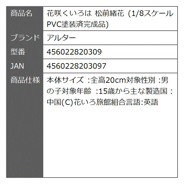 花咲くいろは 松前緒花 1/8スケール PVC塗装済完成品[456022820309]|zebrand-shop|12