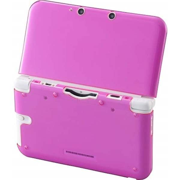 CYBER ・ イージーハードケース 3DS LL 用(クリアピンク, Nintendo 3DS)|zebrand-shop|03