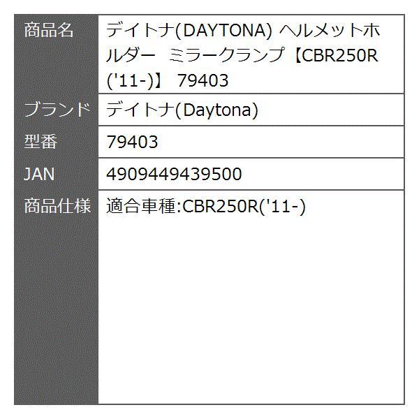 ヘルメットホルダー ミラークランプ CBR250R '11-[79403]|zebrand-shop|02