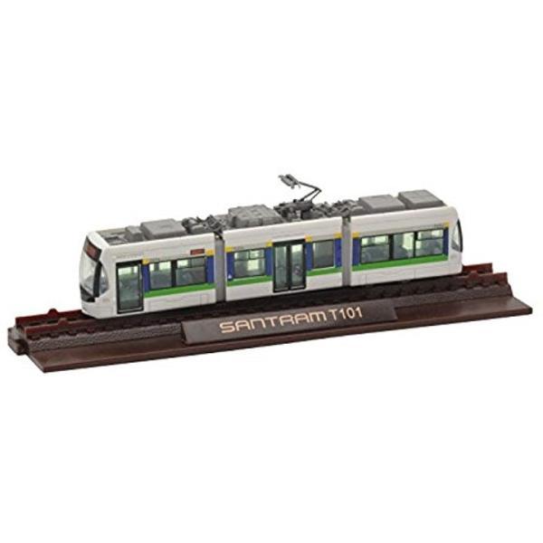 ジオコレ 鉄道コレクション 富山地方鉄道 市内軌道線 T100形 第1編成 ジオラマ用品[272663]|zebrand-shop