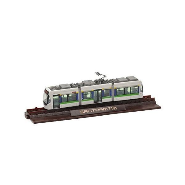 ジオコレ 鉄道コレクション 富山地方鉄道 市内軌道線 T100形 第1編成 ジオラマ用品[272663]|zebrand-shop|02