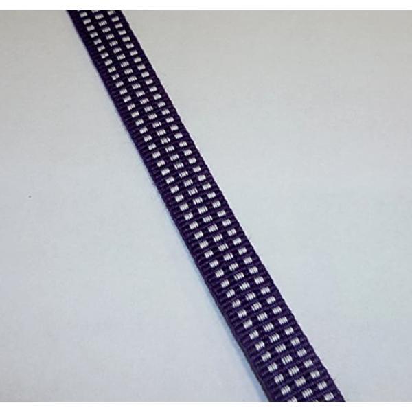 真田紐 木綿袋紐-4分 2mカット 桑の実色+白[SR−4254](桑の実色+白) zebrand-shop 02