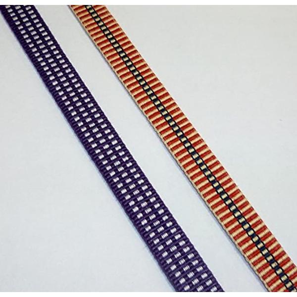真田紐 木綿袋紐-4分 2mカット 桑の実色+白[SR−4254](桑の実色+白) zebrand-shop 03
