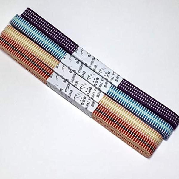 真田紐 木綿袋紐-4分 2mカット 桑の実色+白[SR−4254](桑の実色+白) zebrand-shop 05
