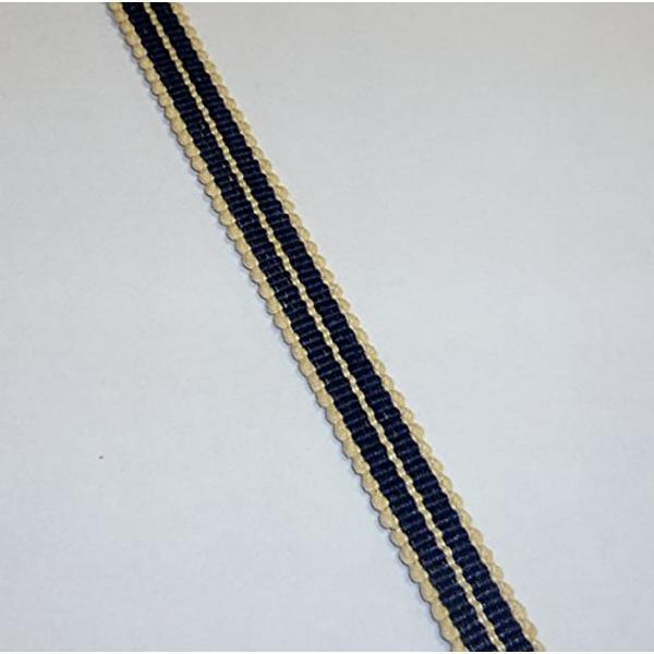 真田紐 木綿平紐-3分 2mカット 鉄紺+鳥の子色[SR-2053](ブルー)|zebrand-shop|02