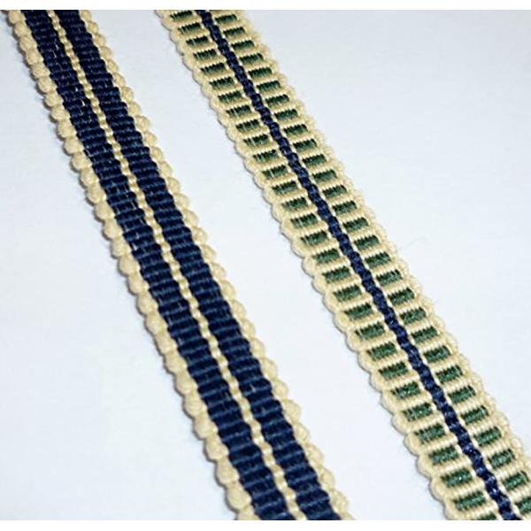 真田紐 木綿平紐-3分 2mカット 鉄紺+鳥の子色[SR-2053](ブルー)|zebrand-shop|03