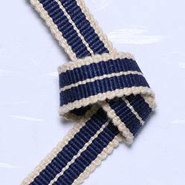 真田紐 木綿平紐-3分 2mカット 鉄紺+鳥の子色[SR-2053](ブルー)|zebrand-shop|04