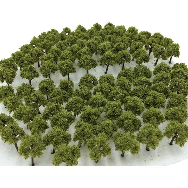 森林選べる色数量50本100本Nゲージジオラマ鉄道建築模型用樹木風景3cm02深緑(02 深緑50本)