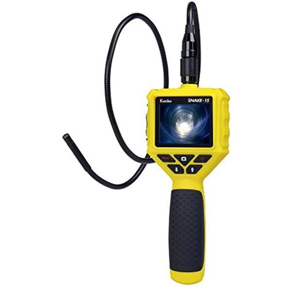 Kenko デジタルスネイクカメラ SNAKE-15 LEDライト付き 防水 434789(イエロー) zebrand-shop