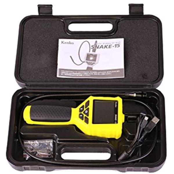 Kenko デジタルスネイクカメラ SNAKE-15 LEDライト付き 防水 434789(イエロー) zebrand-shop 06