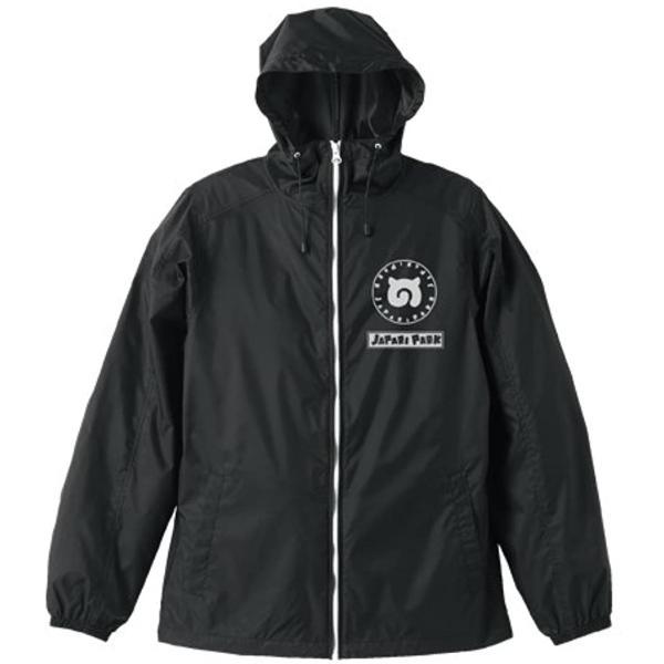 けものフレンズ ジャパリパーク フーデッドウインドブレーカー ブラック×ホワイト Lサイズ(L)|zebrand-shop