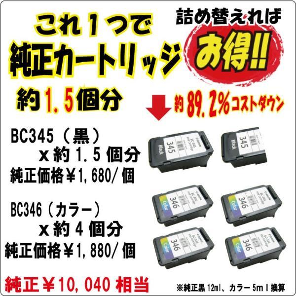 (NBC340BCL) お試し 詰め替えインク キャノン  BC-345 BC346 BC-340 BC-341 BC-310 BC-311 BC-90 BC-91 BC-70 BC-71 対応 (20mlx4色 器具付)純正5.5個分|zecoocolor|04