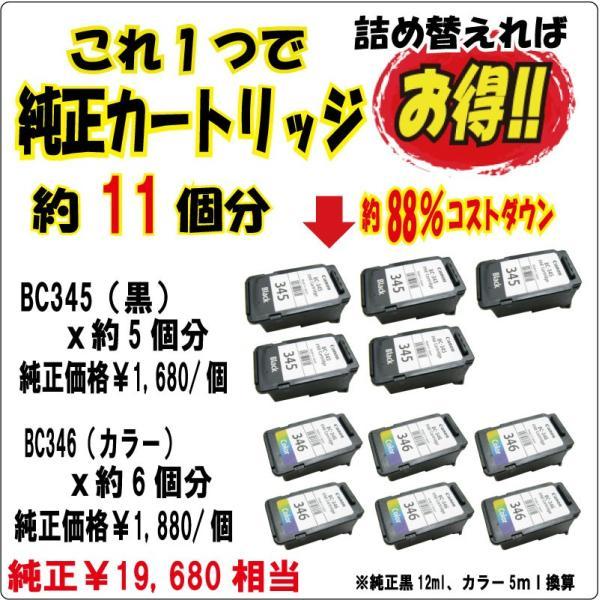 期間限定カラー 40%増量 キャノン 詰め替えインク (BC-345/BC-346/BC-340/BC-341/BC-310/BC-311/BC-90/BC-91/BC-70/BC-71) 対応 (4色セット 器具付)ZCC340BCL|zecoocolor|08