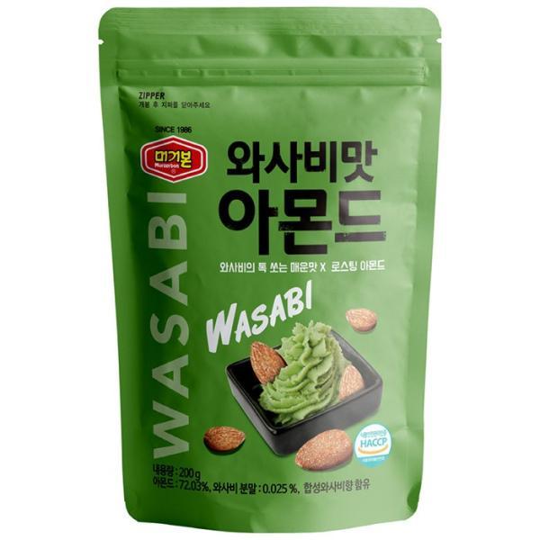 murgerbon wasabi Almond わさび味 アーモンド 200g アーモンド 韓国 わさび味アーモンド 香ばしさ スナック ビールのおとも|zeffiro