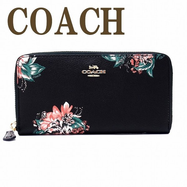 outlet store 66c3f 3a001 コーチ COACH 財布 レディース 長財布 花柄 ラウンドファスナー ピンク 32435IMBLC