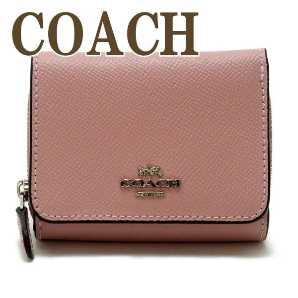コーチ COACH 財布 三つ折り 折財布 ミニ レディース レザー 37968SVXR|zeitakuya