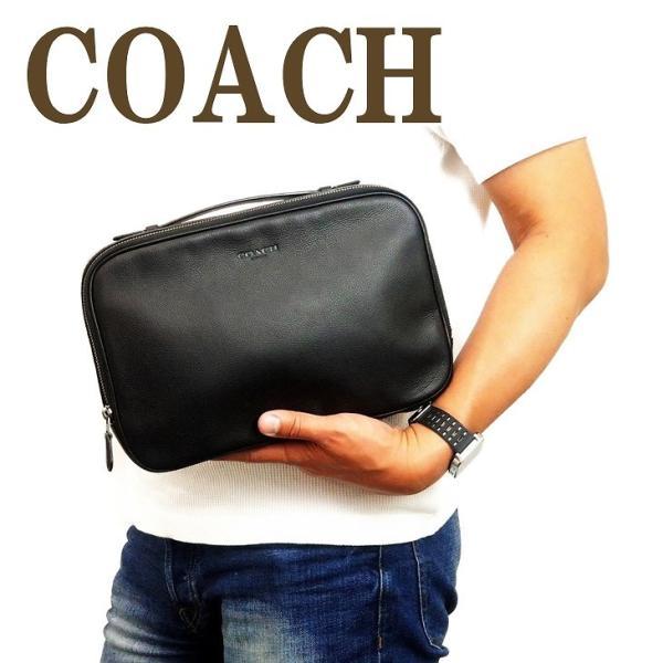 コーチ COACH バッグ メンズ セカンドバッグ クラッチバッグ 財布 セカンドポーチ レザー 39806QBBK|zeitakuya
