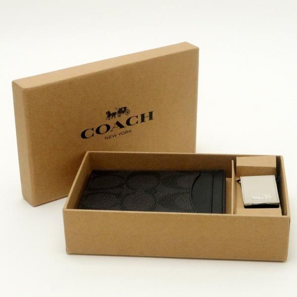 コーチ COACH 財布 メンズ マネークリップ カードケース 名刺入れ ギフトセット 41344NIOHM|zeitakuya|02