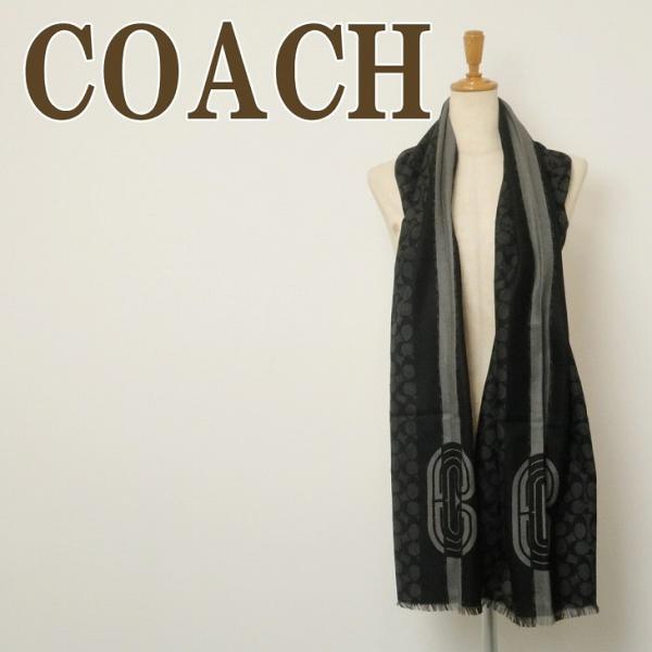 コーチ COACH メンズ マフラー ストール ウール 大判 スカーフ シグネチャー 4919CHR|zeitakuya