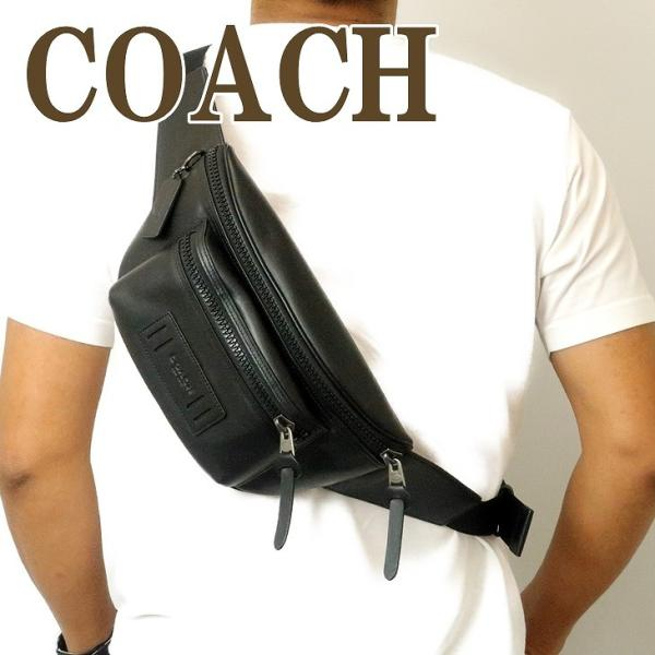 コーチ COACH バッグ メンズ ショルダーバッグ 斜めがけ ウエストバッグ レザー 75776QBBK zeitakuya