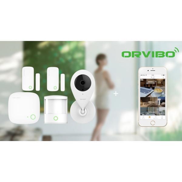 防犯カメラ ワイヤレス 5点 セット 監視カメラ 赤外線 暗視 録画 sdカード wifi 玄関 窓 人感センサー スターターキット ORVIBO|zeitakuya|15