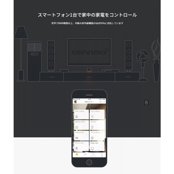 リモコン マルチリモコン アマゾン エコー グーグルホーム Siri 対応 スマート 家電リモコン スマホリモコン 赤外線リモコン スマートリモコン テレビ ORVIBO|zeitakuya|04