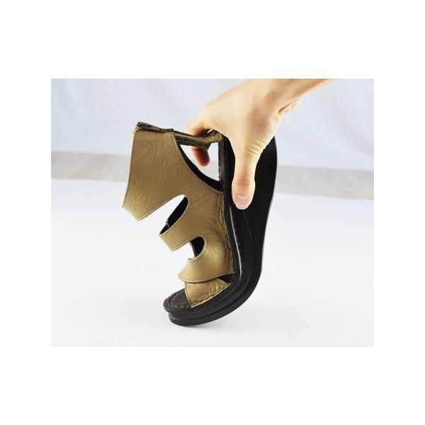 サンダル ブーツ サンダル  日本製 柔らかフットベッドインソールの/インコルジェ