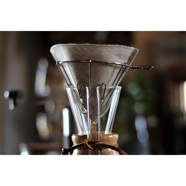 洗って繰り返し使えるコーヒーフィルター1?4杯用3枚入り 日本製 (ホワイト)|zembuzembu|02