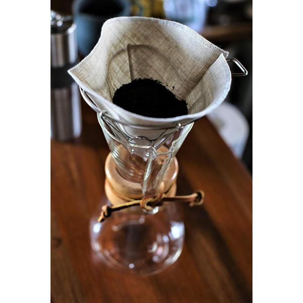 洗って繰り返し使えるコーヒーフィルター1?4杯用3枚入り 日本製 (ホワイト)|zembuzembu|03