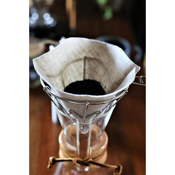 洗って繰り返し使えるコーヒーフィルター1?4杯用3枚入り 日本製 (ホワイト)|zembuzembu|07