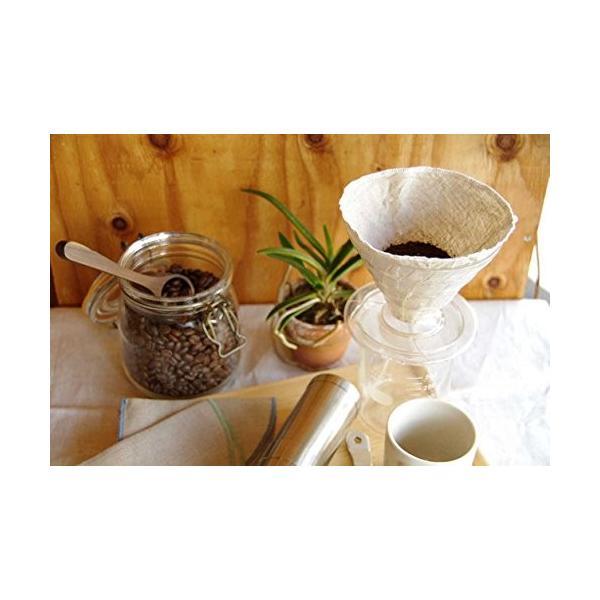 洗って繰り返し使えるコーヒーフィルター1?4杯用3枚入り 日本製 (ホワイト)|zembuzembu|08