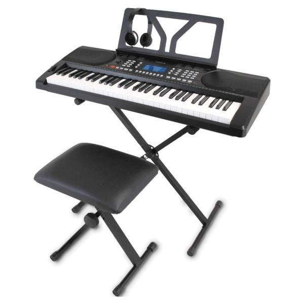 ONETONE ワントーン 電子キーボード 61鍵盤 初心者セット ピッチベンド搭載 日本語表記 OTK-61S (譜面立て/電源アダプター/スタンド/椅子/ヘッドフォン付き)|zen-shouten