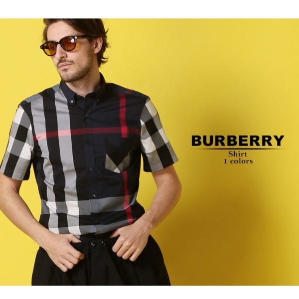 バーバリー BURBERRY シャツ 半袖 バーバリーチェック ボタンダウン メガチェック メンズ BB4045842|zen|02