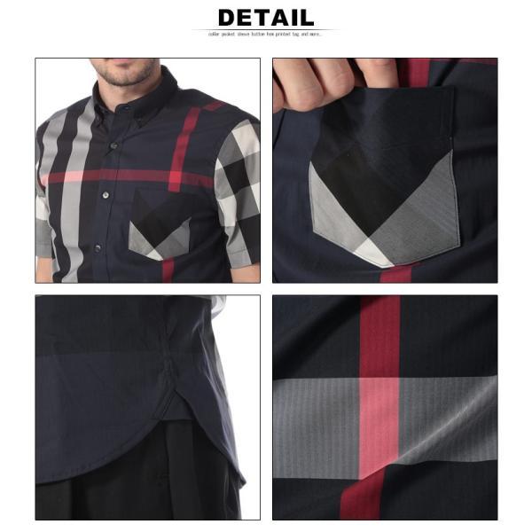 バーバリー BURBERRY シャツ 半袖 バーバリーチェック ボタンダウン メガチェック メンズ BB4045842|zen|05