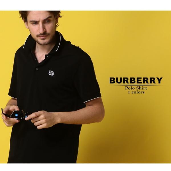 バーバリー BURBERRY ポロシャツ 半袖 鹿の子 ロゴ ライン メンズ BB8008328 zen 02