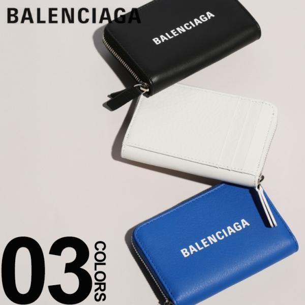 new product d14cc 9add7 バレンシアガ BALENCIAGA 小銭入れ レザー ロゴ エブリデイ カードコイン ポーチ ブランド メンズ レディース 財布 ウォレット  コインケース BC505049DLQHN
