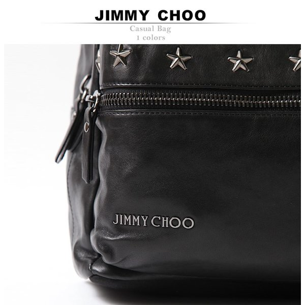 ジミーチュウ JIMMY CHOO バックパック レザー スタッズ リュック バッグ ブランド メンズ JCREEDBLS|zen|02